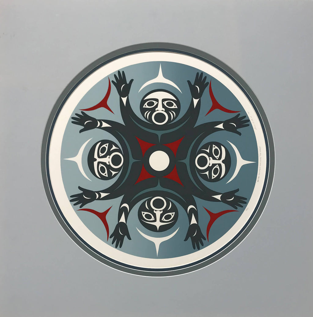 Coast Salish Artist Susan Agnes Point Serigraphy