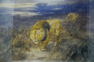 Irish Painting Cuthbert Edmund Swan 1870-1931 The Night of Marauders