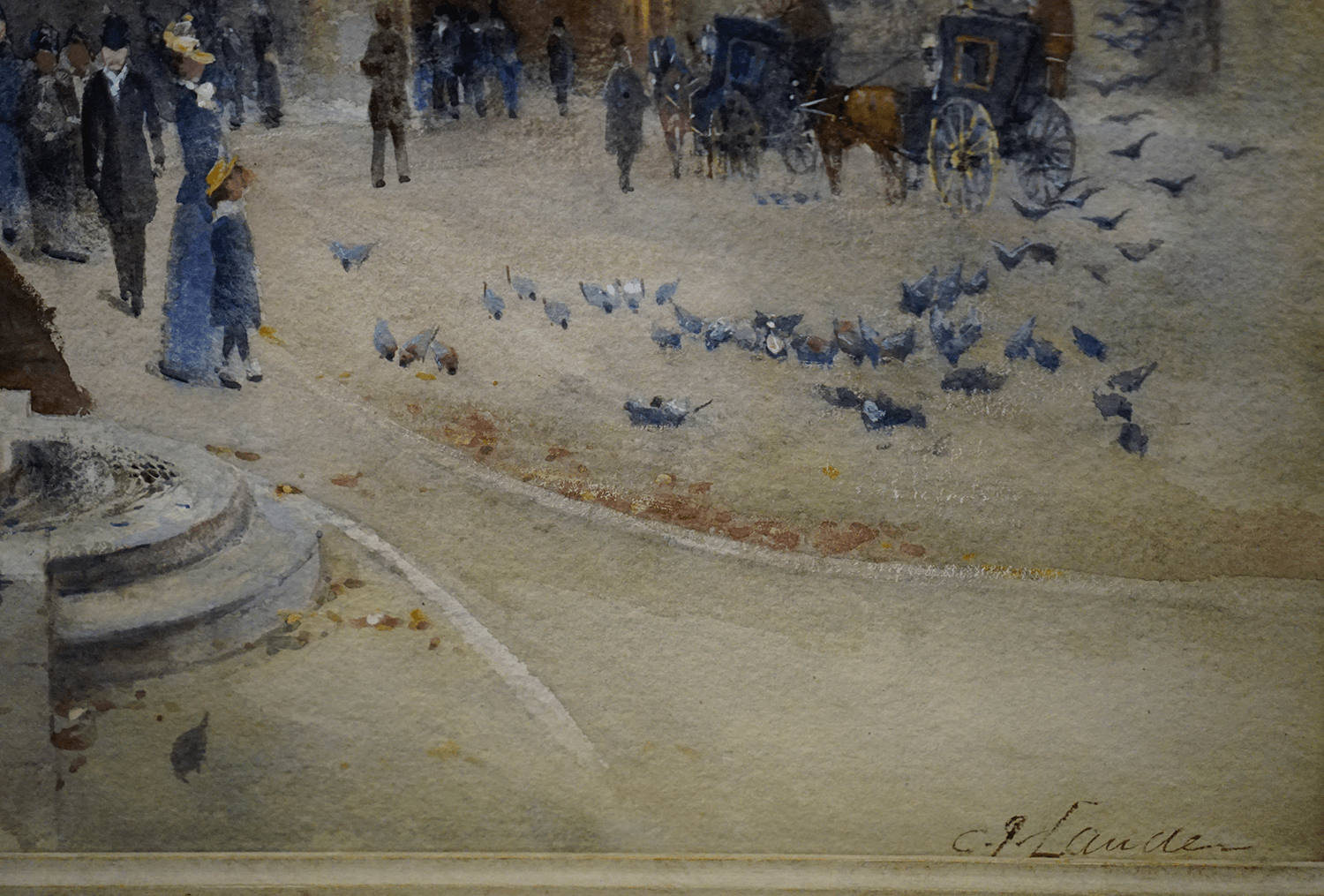 Cyril George Lander Painting Busy Place