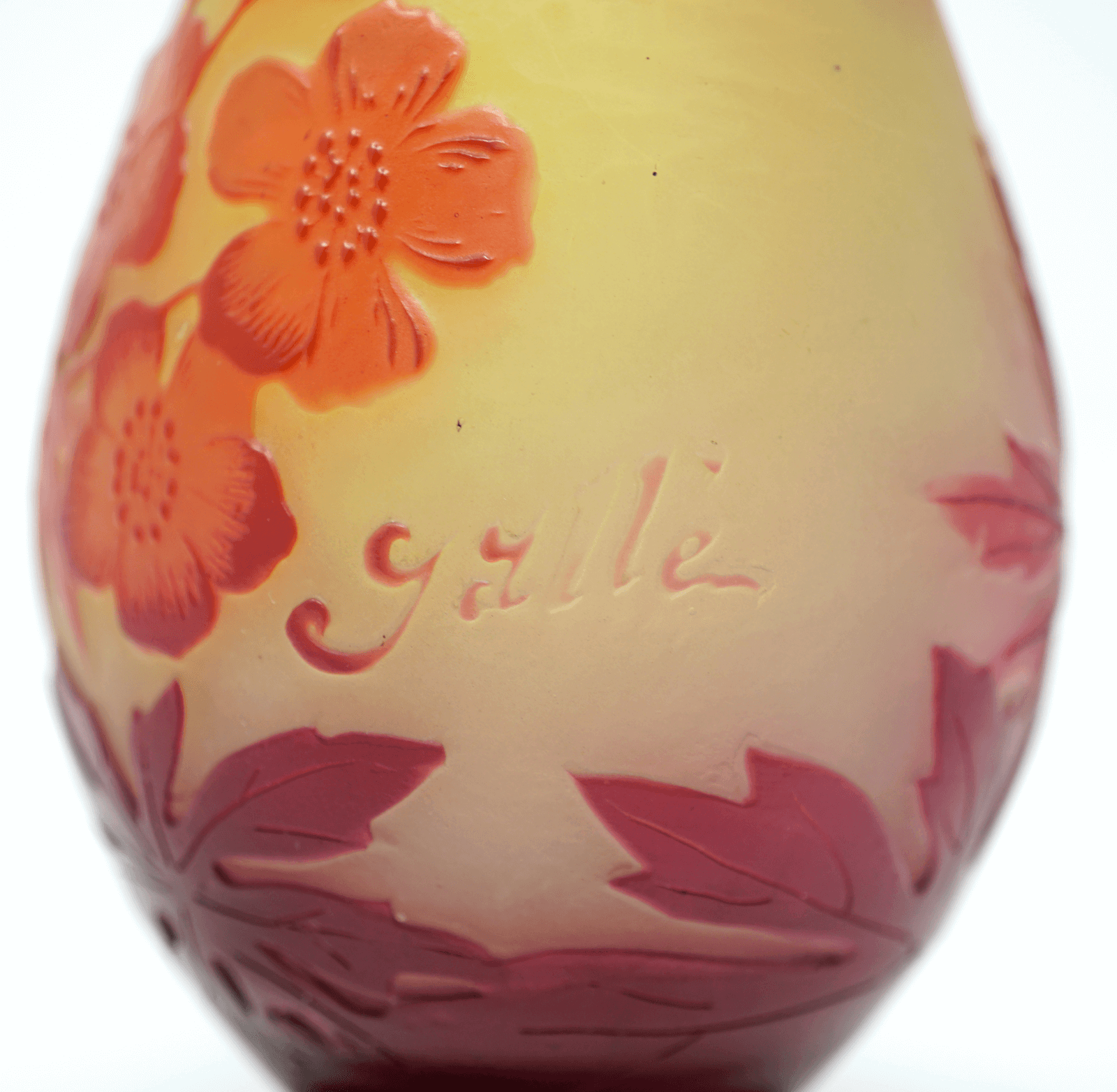 Emile Galle cameo glass vase