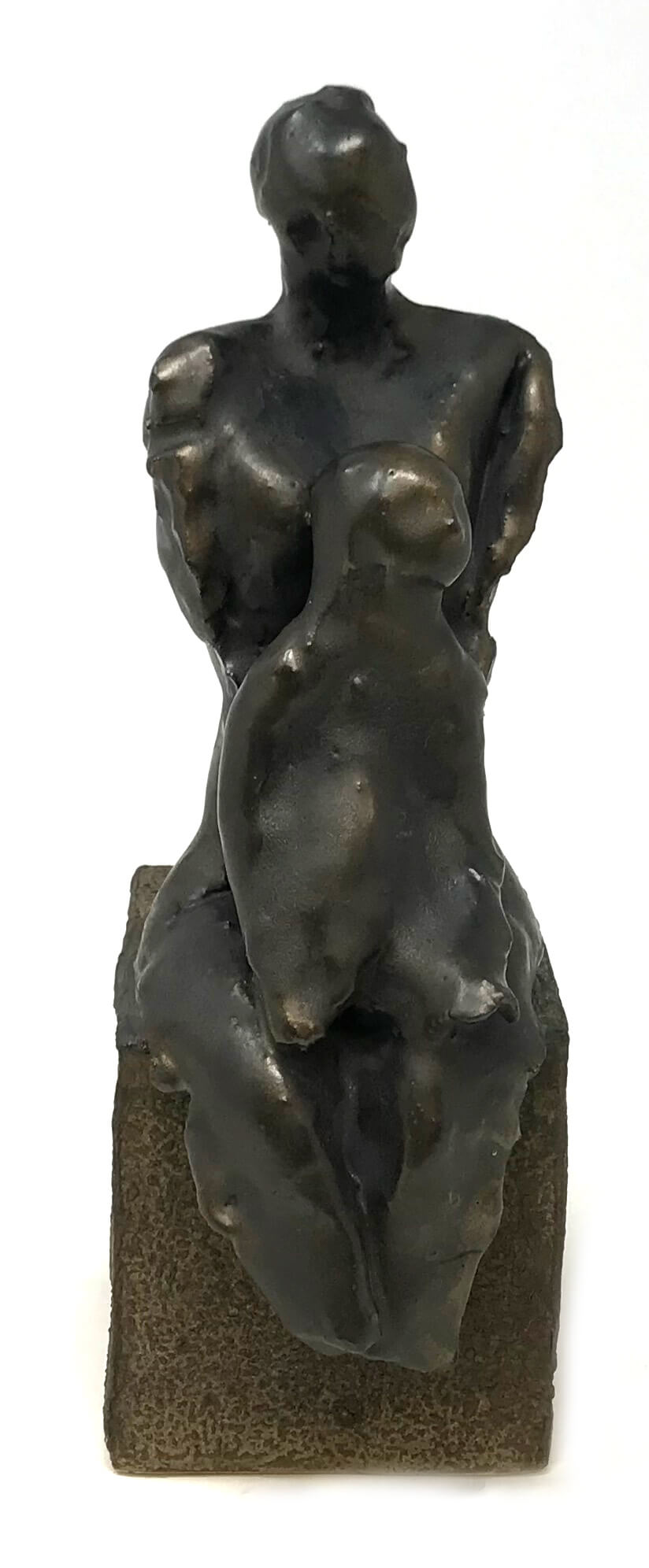 Eva Lapka Ceramic Sculpture Mother & Child