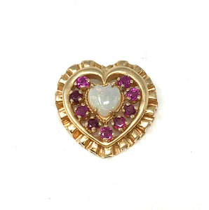 House of Igor Carl Faberge 14k Heart Pendant