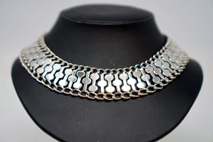 Farfan Deco Mexico Silver Necklace