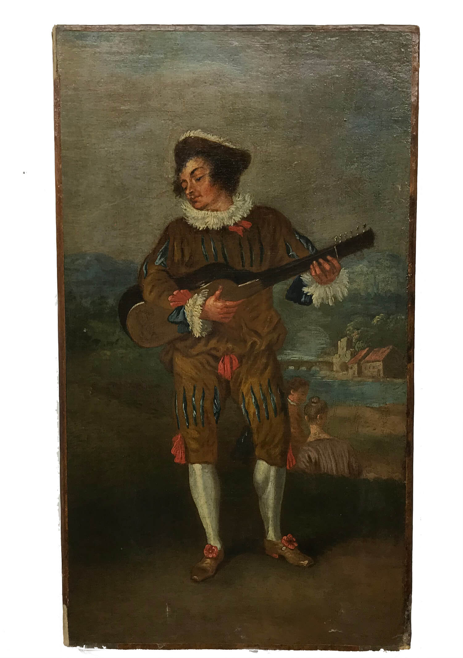 Followers of Jean Antoine Watteau Le Guitarist Painting