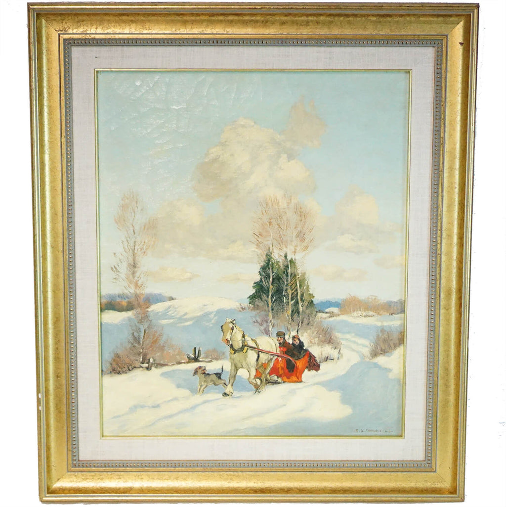 Frederic Coburn Painting The Red Sleigh