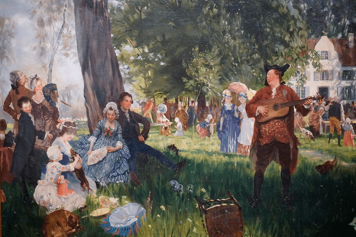 Friedrich Peter Hiddeman Painting Festivity in the Village