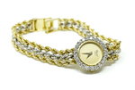 Chopard Geneve 18k gold ladies watch with diamonds