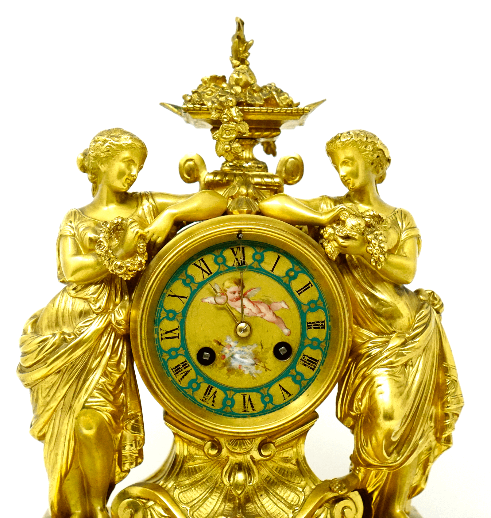 Scottish James Muirhead Glasgow Ormolu Bronze Mantel Clock