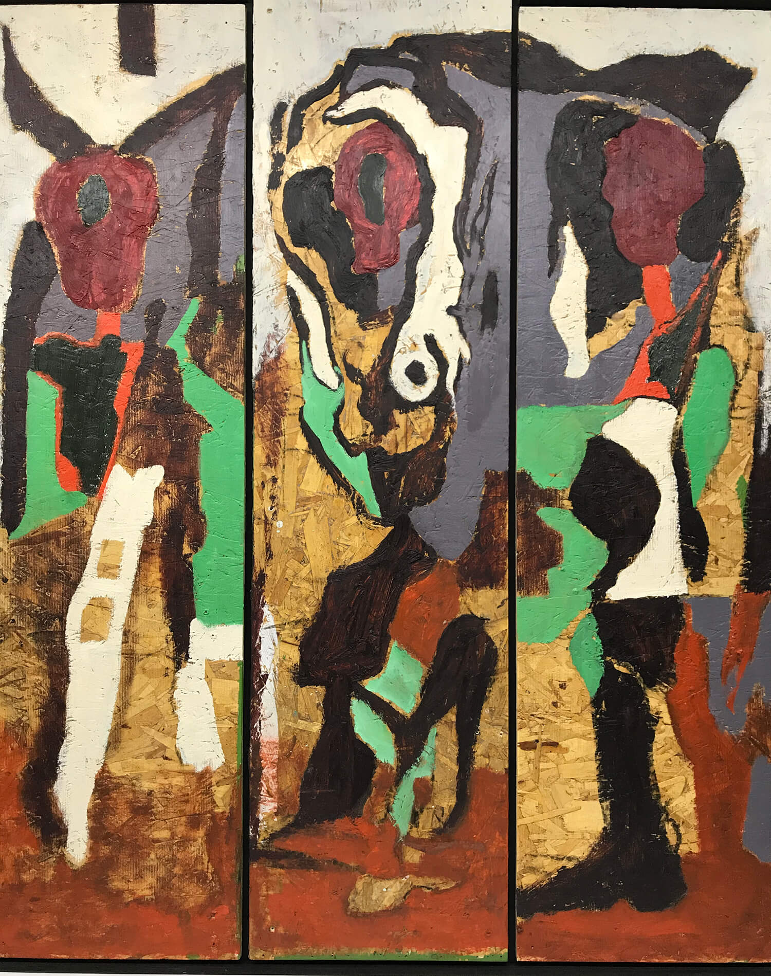 Harold Klunder Tryptic Painting
