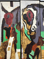 Harold Klunder 1943 Tryptic Painting
