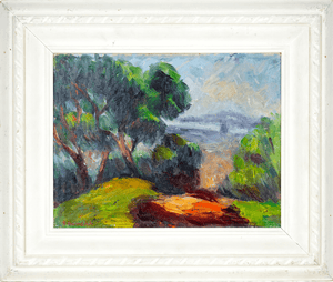 Herman Heimlich signed landscape painting
