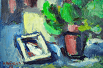Canadian painting by Herman Heimlich Still life 1955