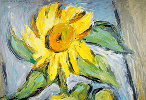 Canadian Herman Heimlich R.C.A Sunflower Painting