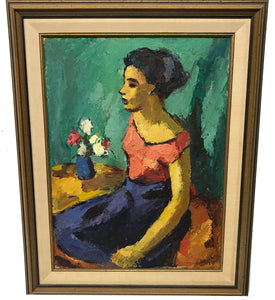 Canadian Herman Heimlich Young Lady Painting