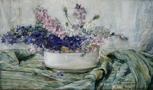 Hula Ajdukiewicz Painting of a Flower Still Life