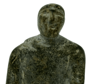 Inuit Soapstone Sculpture of a Woman