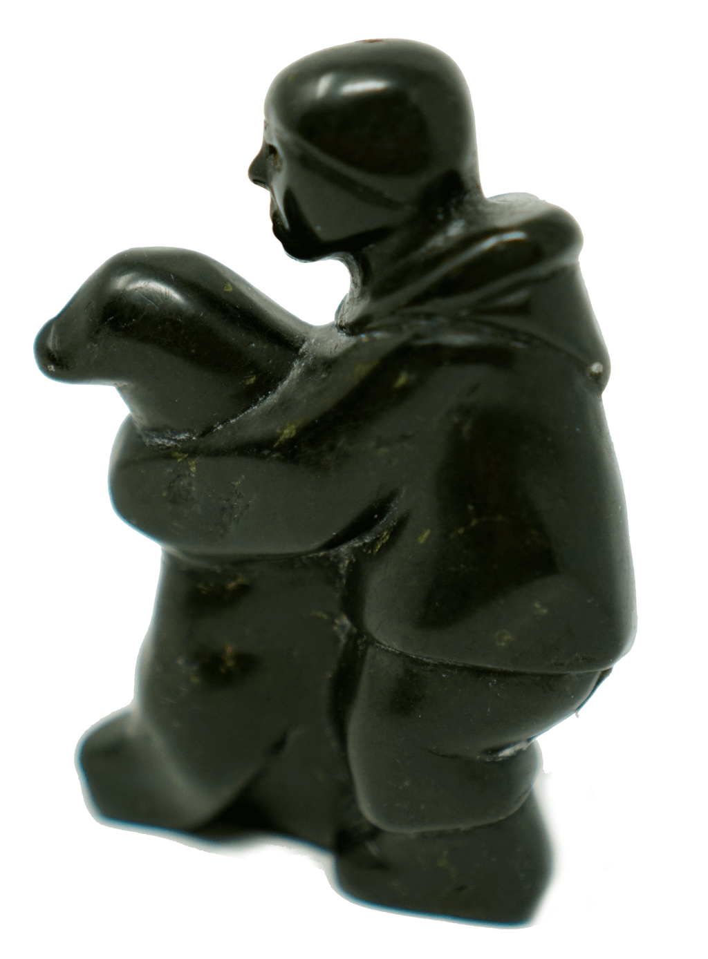 Inuit Eskimo Sculpture by Qaunaq Palluq