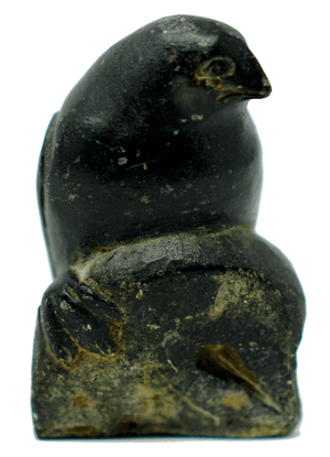 Inuit Sculpture of a Bird on a Rock