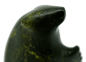 Inuit Serpentine Sculpture of a Bear