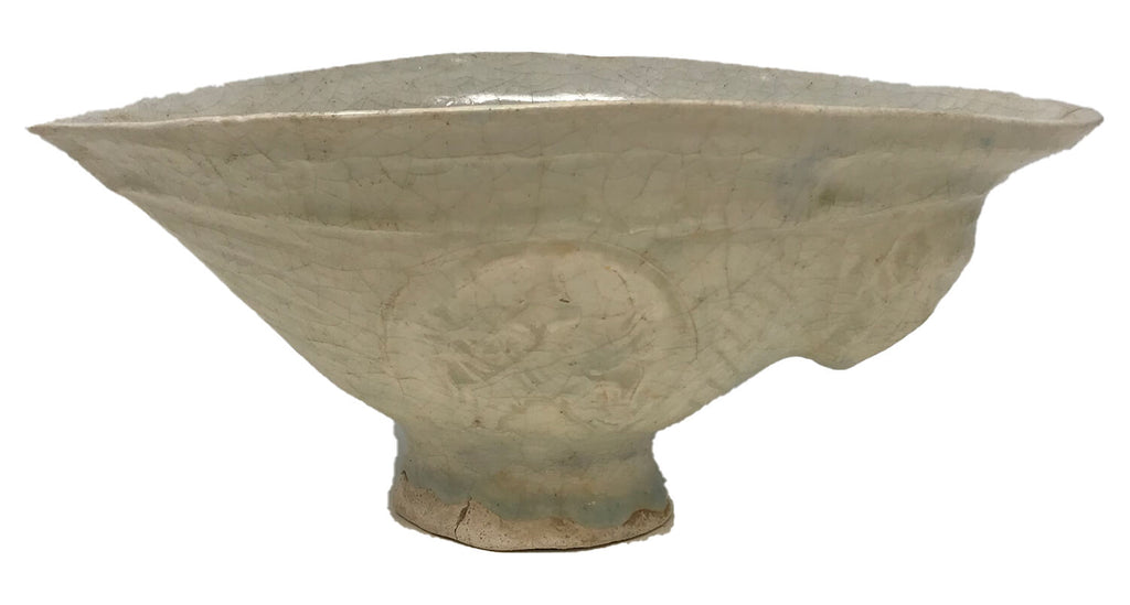Islamic 13th Century White Monochrome Bowl