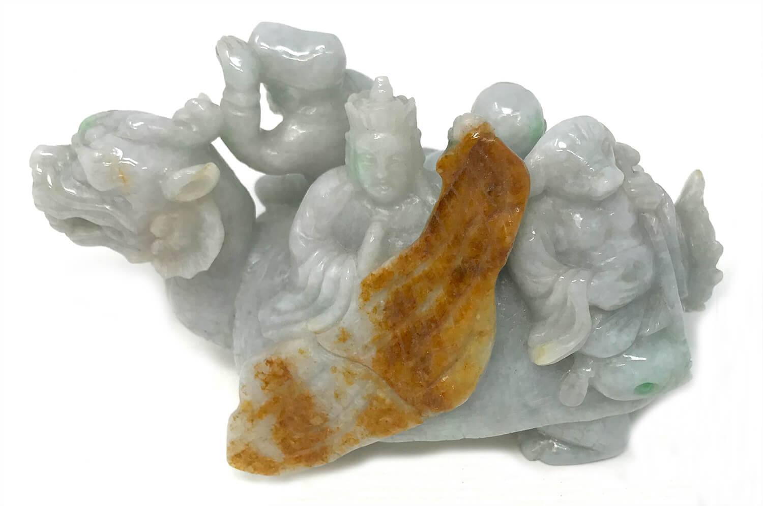 Jadeite Turtle Dragon Mythical Gods Miniature