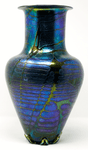 Jim Norton iridescent decorative vase