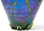Canadian Jim Norton art glass iridescent signed vase 12.5 inches tall