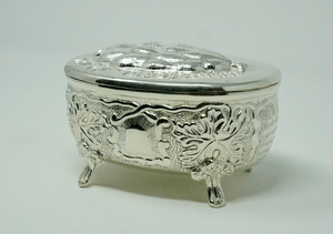 Judaica Sterling Silver Etrog Oval Box Container