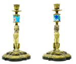 Bronze Lion Candlesticks