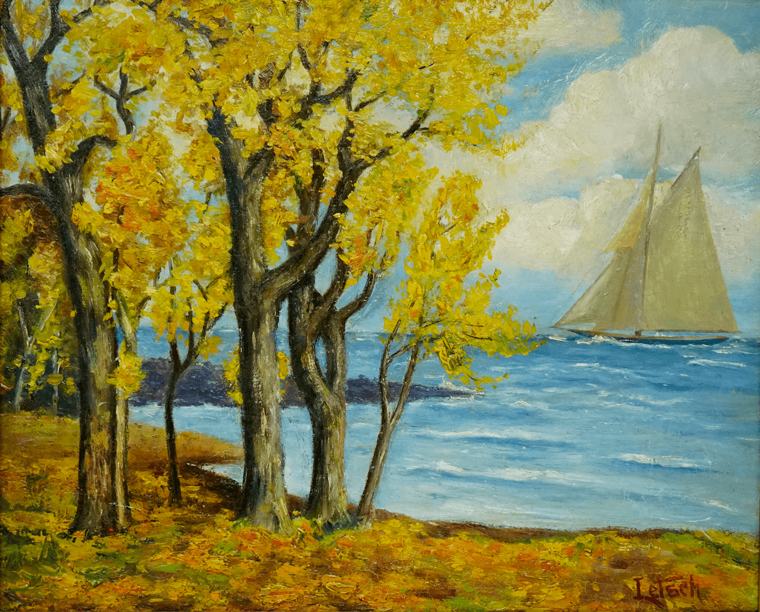 Louis Letsch Painting of Sailbot