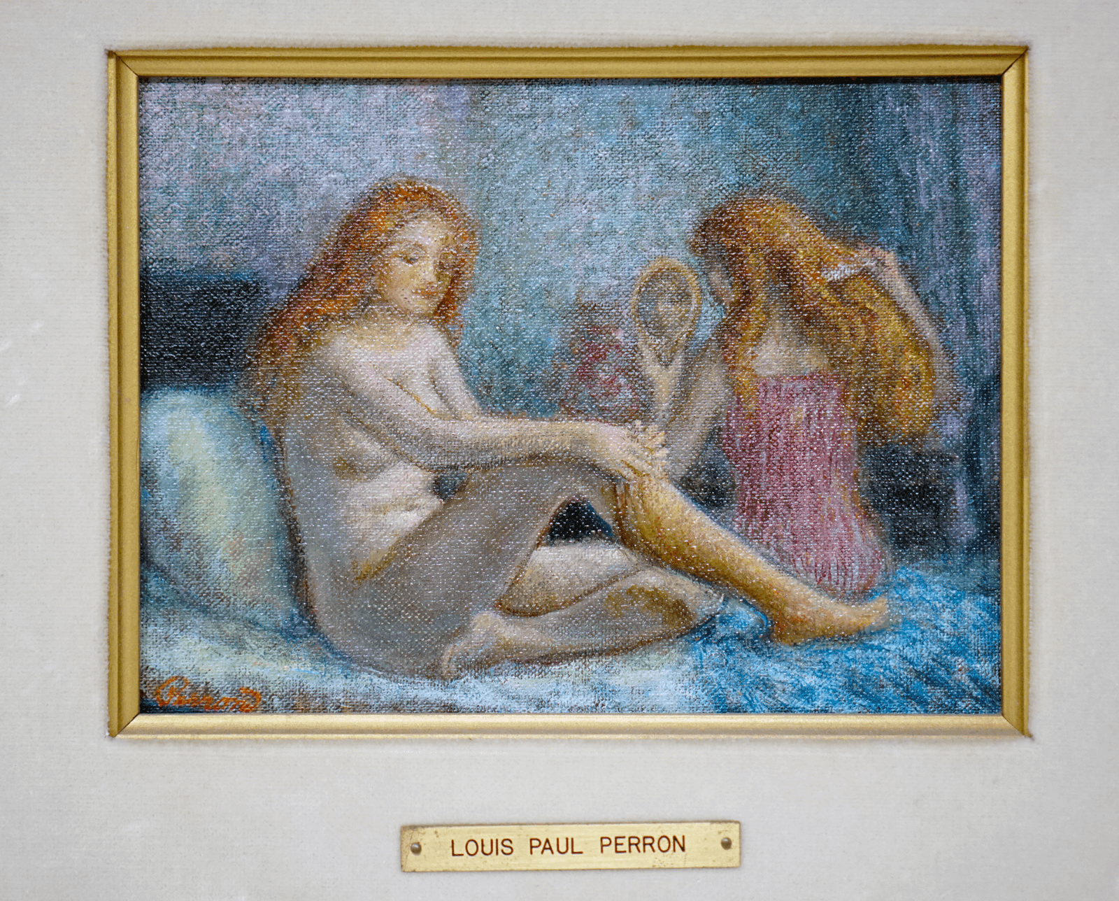Canadian Louis Paul Perron Nudes Oil Painting