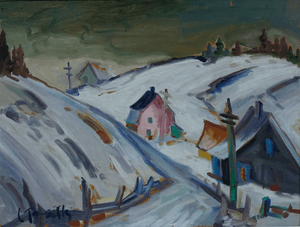 Louis Tremblay Painting titled Rang St. Jean Baptiste