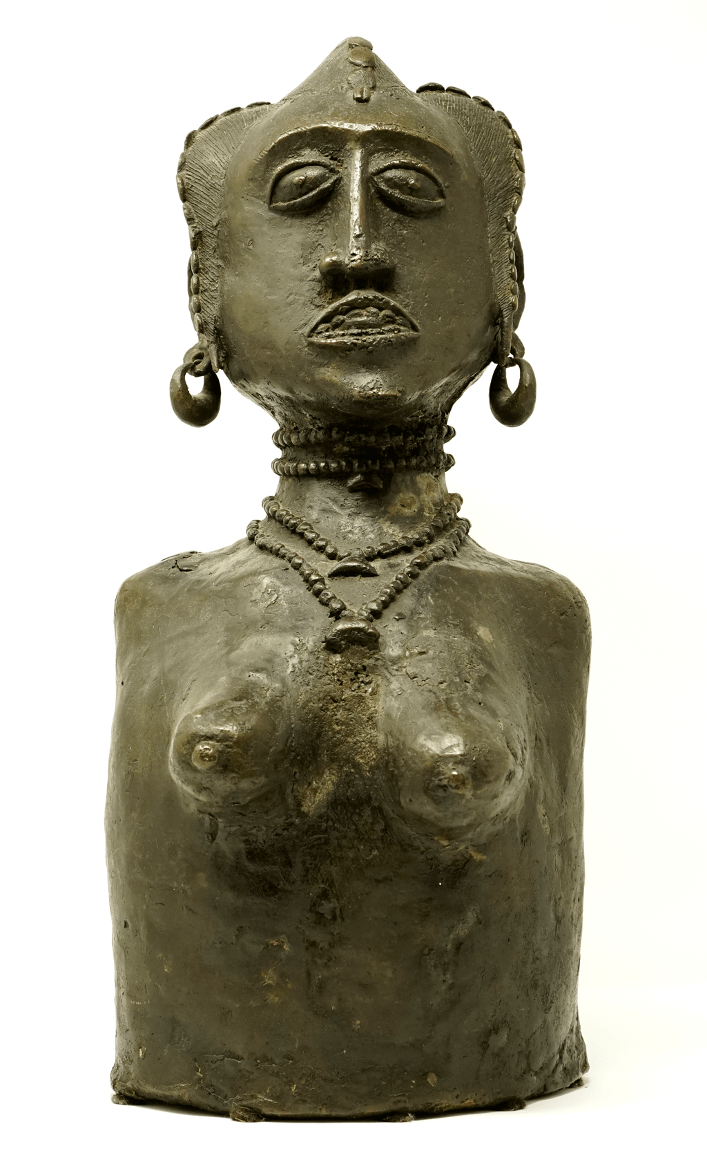 Early 20th century female bronze sculpture from Mali
