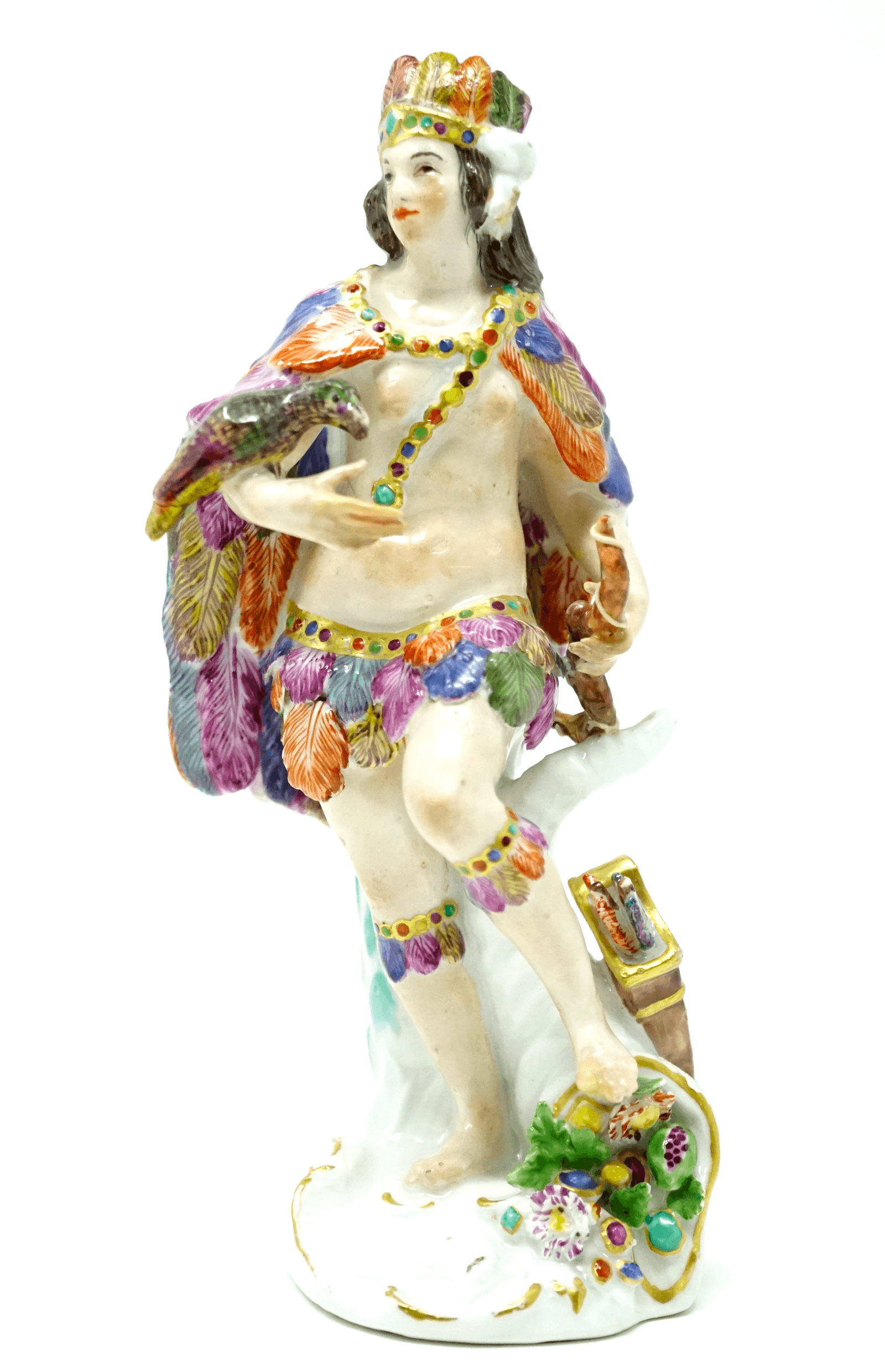 Meissen America 18th century Native Man