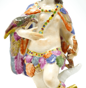 Meissen America 18th century Native Man Statue