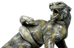 Marble sculpture tiger and snake signed N Torrini 1900