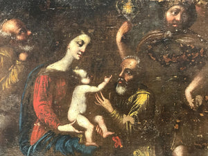 17th Century Old Master Adoration of the Magi Painting