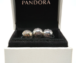 Pandora sterling silver bracelet with 18 charms