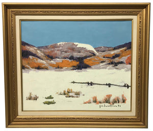 Paul Vanier Beaulieu Painting Winter Scene
