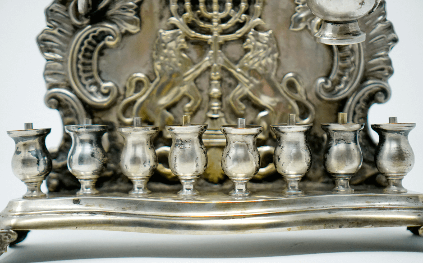Polish Silver Plated Hannukah Lamp