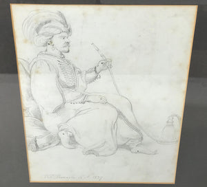 Ramsey Richard Reinagle Orientalist Pencil Drawing