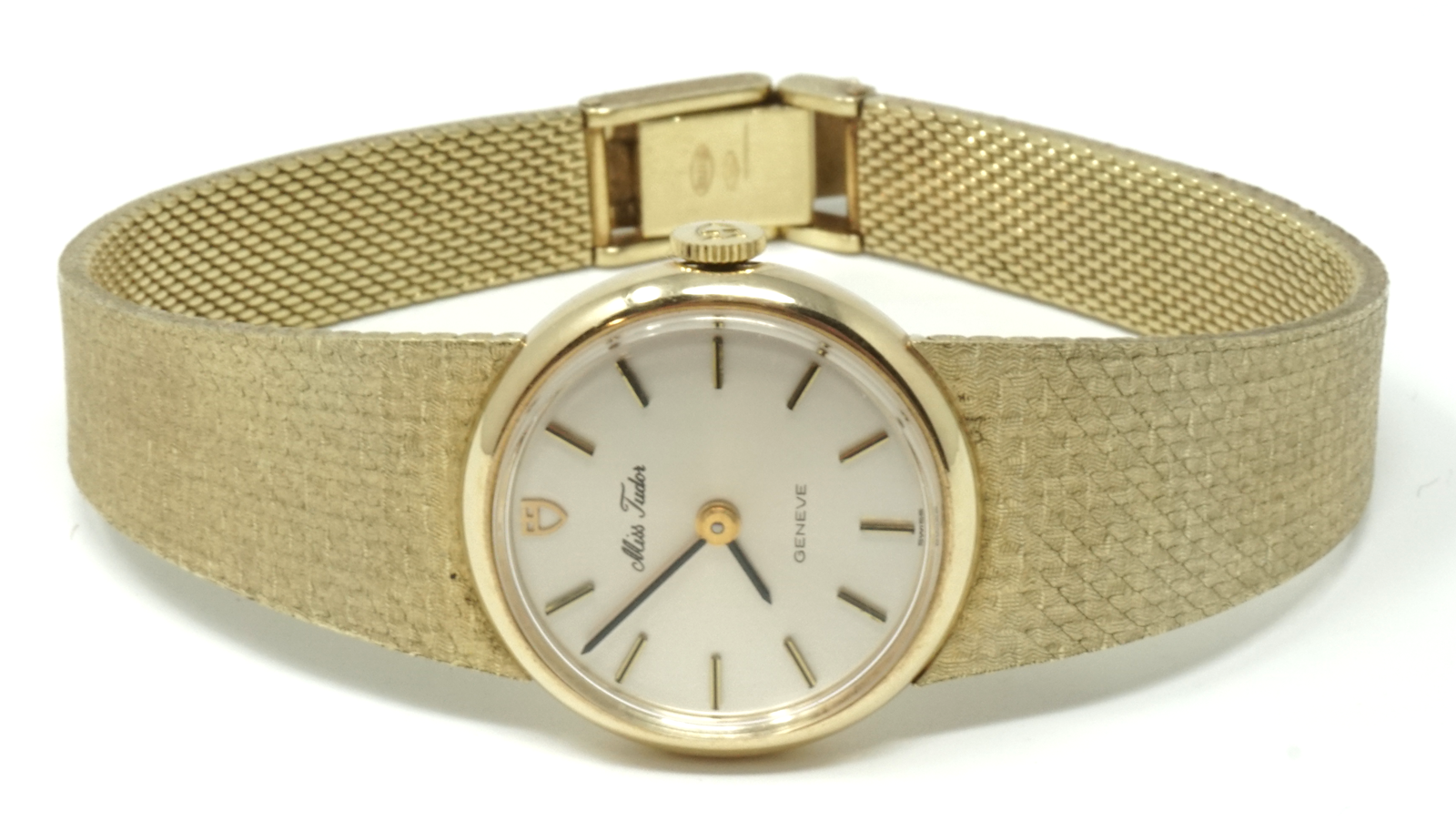 Vintage Rolex Miss Tudor ladies 14k gold watch