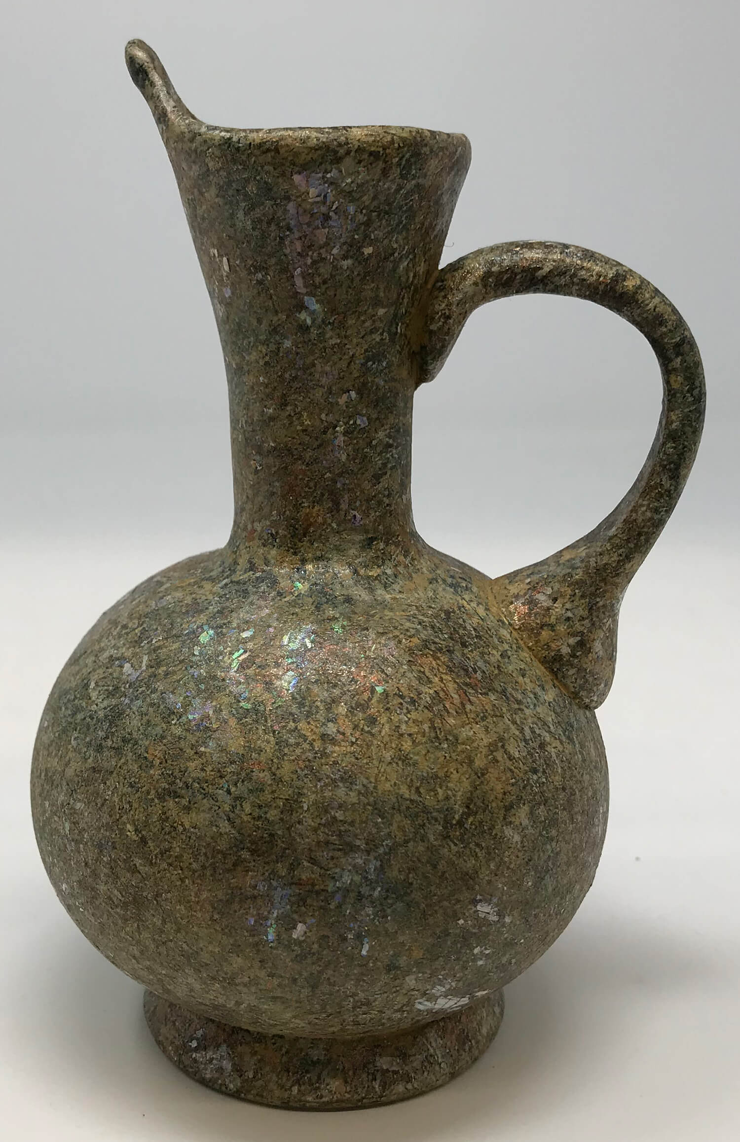 Iridescent Roman Glass Jug