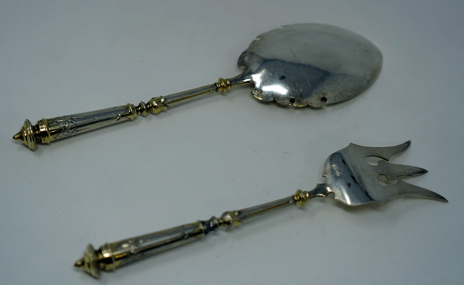 Russian Imperial Silver Fork and Spoon
