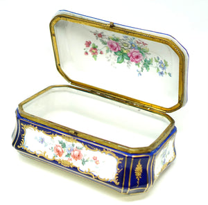 Large Antique Sevres Style Box