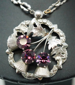 Vintage Sterling Silver Amethyst Necklace