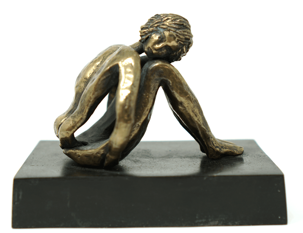 Bronze sculpture by Susan Stromberg Stein 3 3/8 inches tall