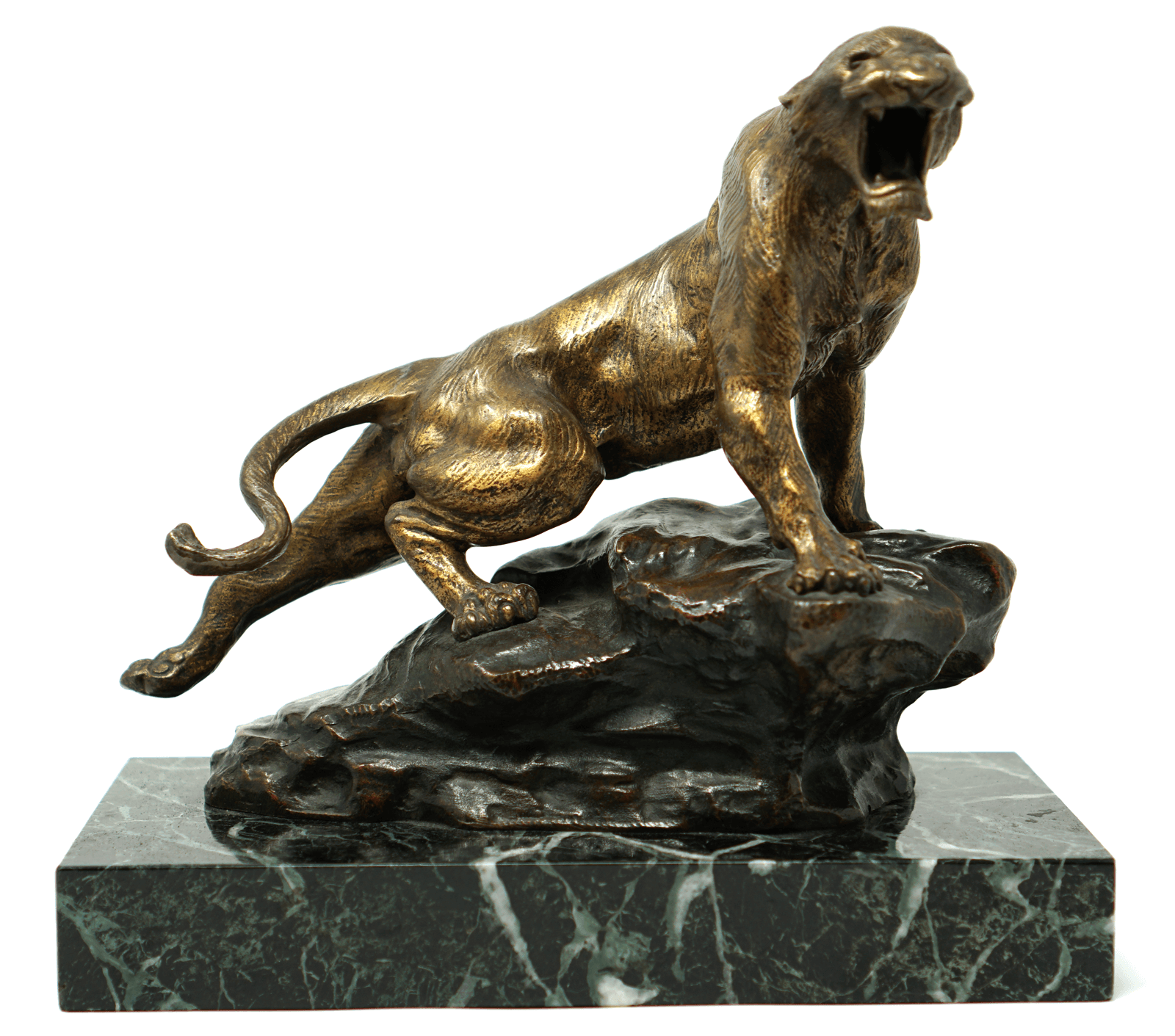 Thomas Francois Cartier bronze sculpture Le Fauve