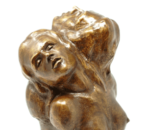 Victor Salmones bronze sculpture signed 10 1/2 inches tall