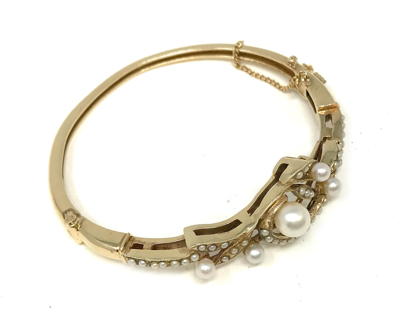 Vintage 14k Gold Bracelet with Pearls